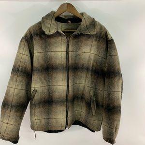 Vintage Woolrich Wool Full Zip Barn Coat